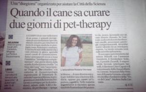 quando il cane sa curare due giorni di pet therapy